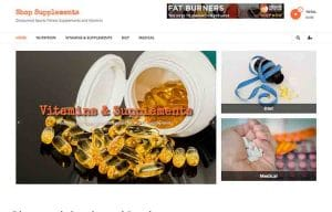 fitness nutrition ready made ecommerce website for sale