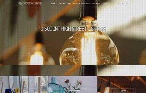 lighting homeware ready made ecommerce website for sale